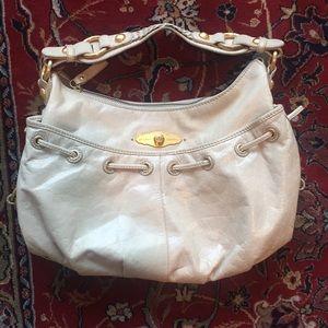 Cream Leather Elliott Lucca Hobo Bag